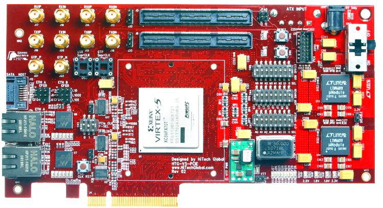 Virtex 5 Pci Express Gen 1 Gen 2 Board