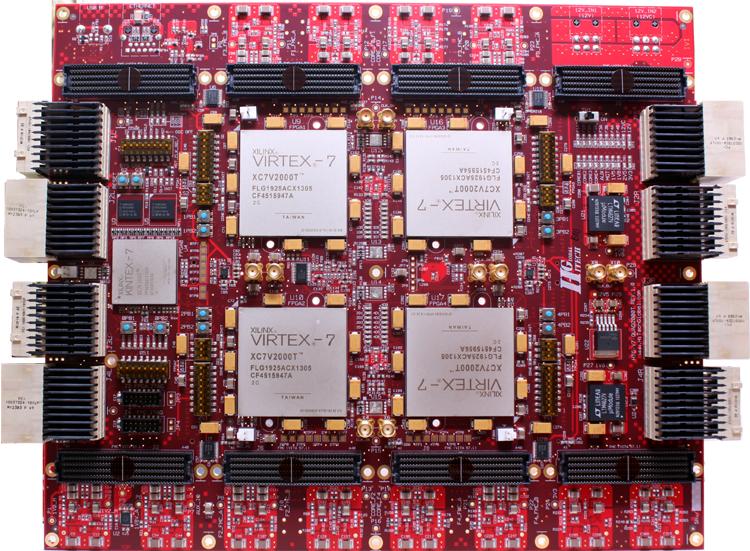 Virtex 7 emulation ASIC/SOC prototyping V2000T board