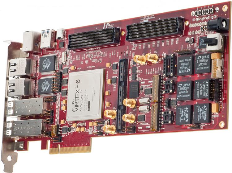 Xilinx virtex-6 hxt fpga 8-lane pci express board.
