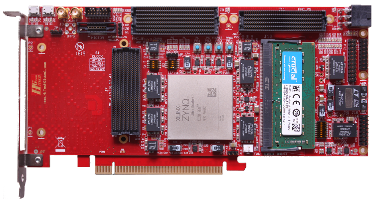 Xilinx ZYNQ UltraScale+ PCIe Board with 32GB DDR4