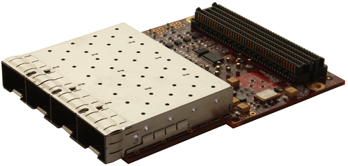 4-port (quad) SFP/SFP+ FMC Module